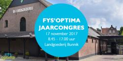 Fys'Optima jaarcongres 2017
